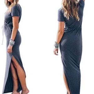 Dresses & Skirts - Blue Cotton Maxi Dress